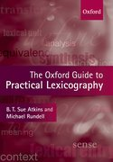 Cover for The Oxford Guide to Practical Lexicography