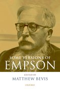 Cover for Some Versions of Empson