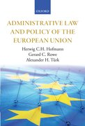 Cover for Administrative Law and Policy of the European Union