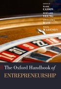 Cover for The Oxford Handbook of Entrepreneurship