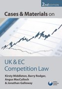 Cover for Cases and Materials on UK and EC Competition Law