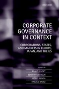 Cover for Corporate Governance in Context