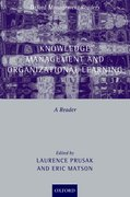 Cover for Knowledge Management and Organizational Learning