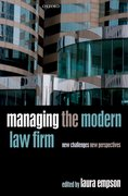 Cover for Managing the Modern Law Firm