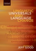 Cover for Linguistic Universals and Language Change