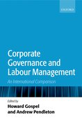 Cover for Corporate Governance and Labour Management