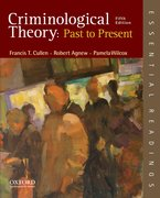 Cover for Criminological Theory: Past to Present