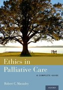 Cover for Ethics in Palliative Care