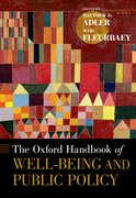Cover for The Oxford Handbook of Well-Being and Public Policy