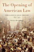 Cover for The Opening of American Law