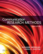 Cover for Communication Research Methods