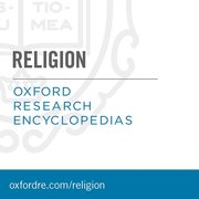 Cover for Oxford Research Encyclopedias: Religion