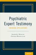 Cover for Psychiatric Expert Testimony: Emerging Applications