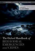 Cover for The Oxford Handbook of Behavioral Emergencies and Crises - 9780199352722