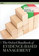 Cover for The Oxford Handbook of Evidence-Based Management