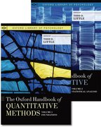 Cover for The Oxford Handbook of Quantitative Methods, Two-Volume Set
