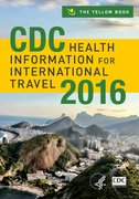 Cover for CDC Health Information for International Travel 2016