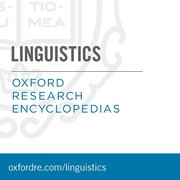 Cover for Oxford Research Encyclopedias: Linguistics