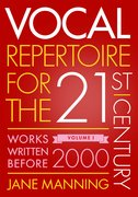 Cover for Vocal Repertoire for the Twenty-First Century, Volume 1 - 9780199391035
