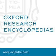 Cover for Oxford Research Encyclopedias