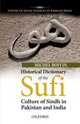 Cover for Historical Dictionary of the Sufi Culture of Sindh in Pakistan and India