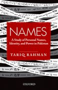 Cover for Names