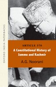 Cover for Article 370: A Constitutional History of Jammu and Kashmir OIP