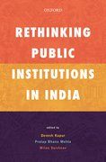 Cover for Rethinking Public Institutions in India