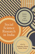 Cover for Social Science Research in India