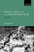 Cover for Indian Army and the First World War