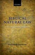 Cover for Biblical Natural Law