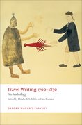 Cover for Travel Writing 1700-1830