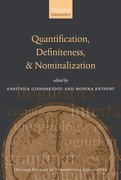 Cover for Quantification, Definiteness, and Nominalization
