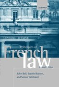 Cover for Principles of French Law
