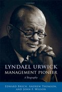 Cover for Lyndall Urwick, Management Pioneer