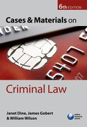 Cover for Cases and Materials on Criminal Law