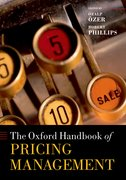 Cover for The Oxford Handbook of Pricing Management