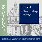 Cover for Oxford Scholarship Online: Psychology
