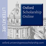 Cover for Oxford Scholarship Online - Literature