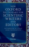 Cover for Oxford Dictionary for Scientific Writers and Editors