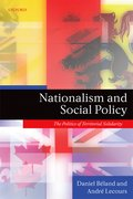 Cover for Nationalism and Social Policy