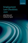 Cover for Employment Law Checklists 2008/09