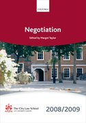 Cover for Negotiation 2008-2009