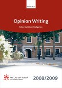 Cover for Opinion Writing 2008-2009