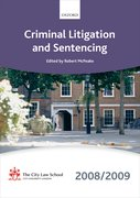 Cover for Criminal Litigation and Sentencing 2008-2009