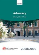 Cover for Advocacy 2008-2009