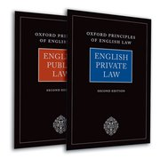 Cover for Oxford Principles of English Law