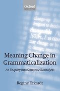 Cover for Meaning Change in Grammaticalization
