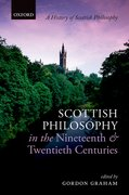 Cover for Scottish Philosophy in the Nineteenth and Twentieth Centuries