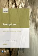 Cover for Family Law 2009